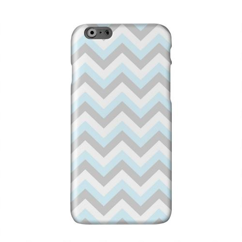Blue on Gray on White Solid White Hard Case Cover for Apple iPhone 6 PLUS/6S PLUS (5.5 inch)