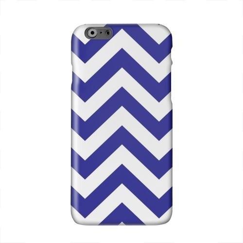Navy Blue on White Solid White Hard Case Cover for Apple iPhone 6 PLUS/6S PLUS (5.5 inch)