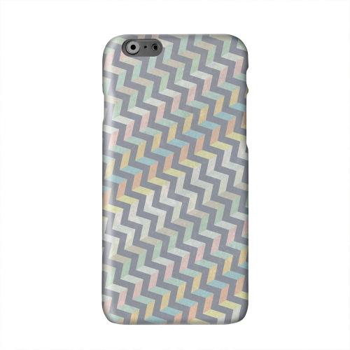 Grungy Pastel Steps Solid White Hard Case Cover for Apple iPhone 6 PLUS/6S PLUS (5.5 inch)