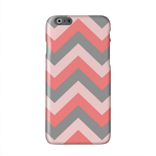 Red on Gray on Pink Solid White Hard Case Cover for Apple iPhone 6 PLUS/6S PLUS (5.5 inch)