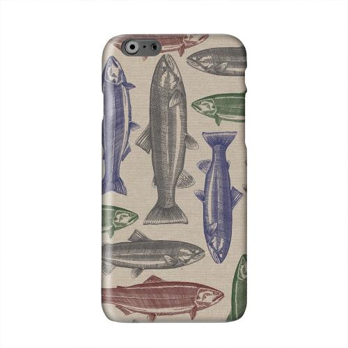Trout Print Solid White Hard Case Cover for Apple iPhone 6 PLUS/6S PLUS (5.5 inch)