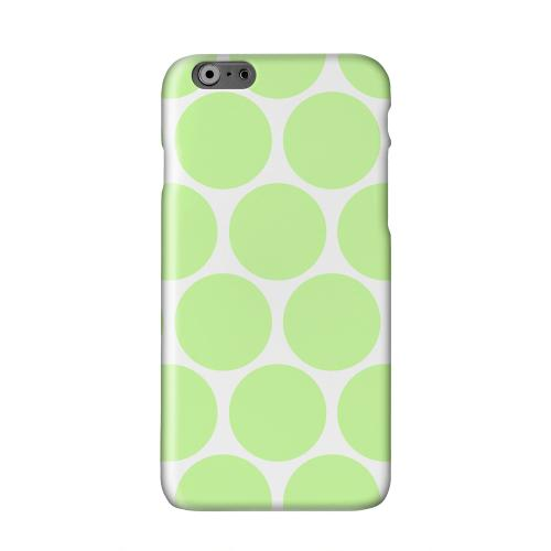 Big & Lime Green Solid White Hard Case Cover for Apple iPhone 6 PLUS/6S PLUS (5.5 inch)