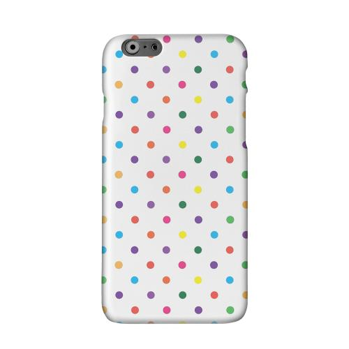 Small & Rainbow on White Solid White Hard Case Cover for Apple iPhone 6 PLUS/6S PLUS (5.5 inch)