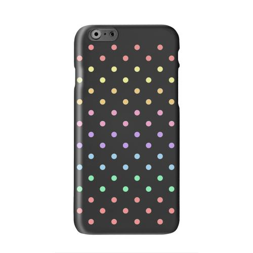 Rainbow Dots on Black Solid White Hard Case Cover for Apple iPhone 6 PLUS/6S PLUS (5.5 inch)