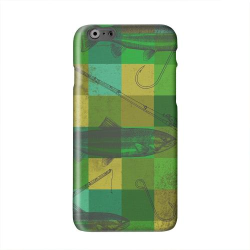 Green Plaid Trout Design Solid White Hard Case Cover for Apple iPhone 6 PLUS/6S PLUS (5.5 inch)