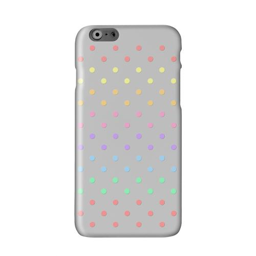 Rainbow Dots on Gray Solid White Hard Case Cover for Apple iPhone 6 PLUS/6S PLUS (5.5 inch)