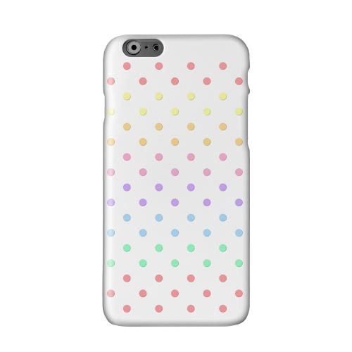 Rainbow Dots on White Solid White Hard Case Cover for Apple iPhone 6 PLUS/6S PLUS (5.5 inch)
