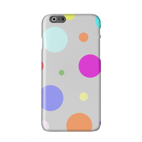 Random & Rainbow on Gray Solid White Hard Case Cover for Apple iPhone 6 PLUS/6S PLUS (5.5 inch)