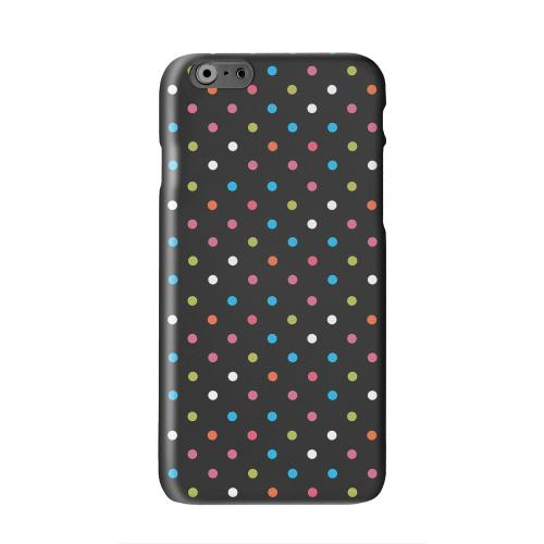 Retro Rainbow Dots on Black Solid White Hard Case Cover for Apple iPhone 6 PLUS/6S PLUS (5.5 inch)