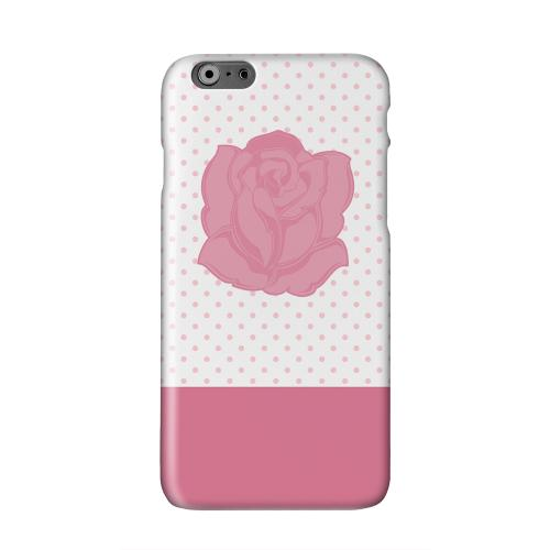 Pink Rose on White Solid White Hard Case Cover for Apple iPhone 6 PLUS/6S PLUS (5.5 inch)