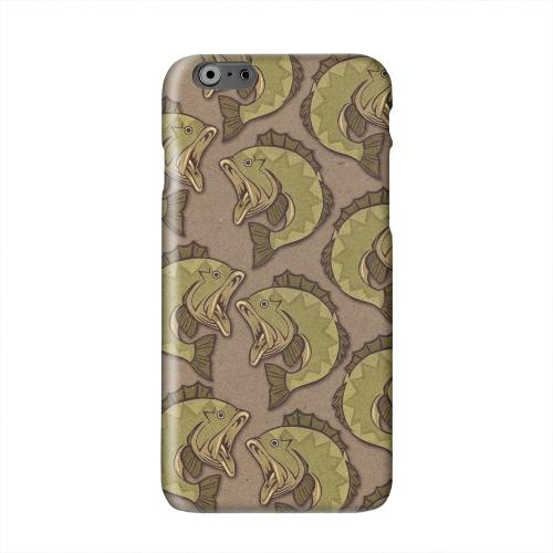Large Mouth Bass Design Solid White Hard Case Cover for Apple iPhone 6 PLUS/6S PLUS (5.5 inch)