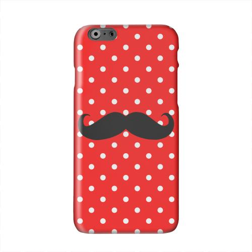 Stache on Red Solid White Hard Case Cover for Apple iPhone 6 PLUS/6S PLUS (5.5 inch)