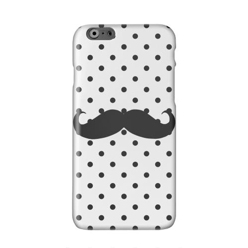 Stache on White Solid White Hard Case Cover for Apple iPhone 6 PLUS/6S PLUS (5.5 inch)
