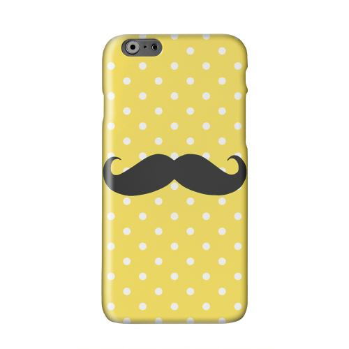 Stache on Yellow Solid White Hard Case Cover for Apple iPhone 6 PLUS/6S PLUS (5.5 inch)