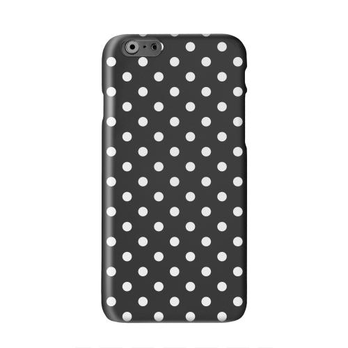White Dots on Black Solid White Hard Case Cover for Apple iPhone 6 PLUS/6S PLUS (5.5 inch)
