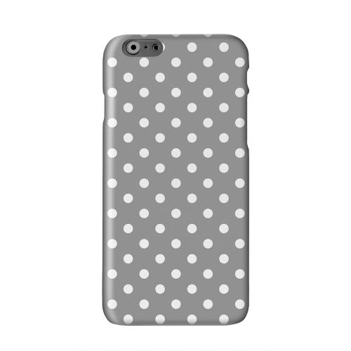 White Dots on Gray Solid White Hard Case Cover for Apple iPhone 6 PLUS/6S PLUS (5.5 inch)