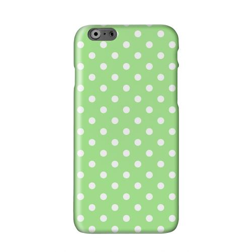 White Dots on Green Solid White Hard Case Cover for Apple iPhone 6 PLUS/6S PLUS (5.5 inch)