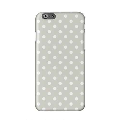 White Dots on Khaki Solid White Hard Case Cover for Apple iPhone 6 PLUS/6S PLUS (5.5 inch)