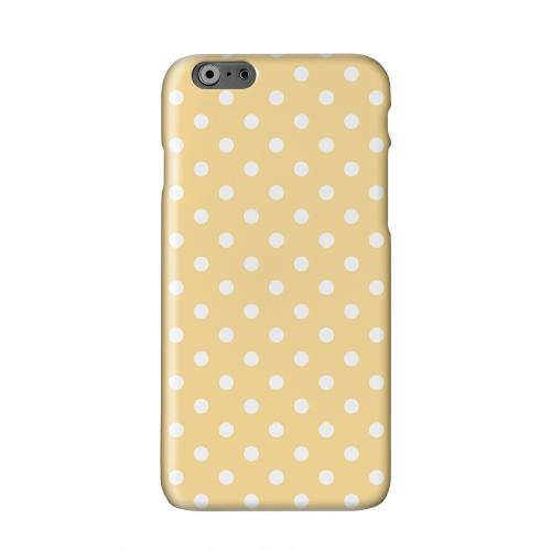 White Dots on Orange Solid White Hard Case Cover for Apple iPhone 6 PLUS/6S PLUS (5.5 inch)