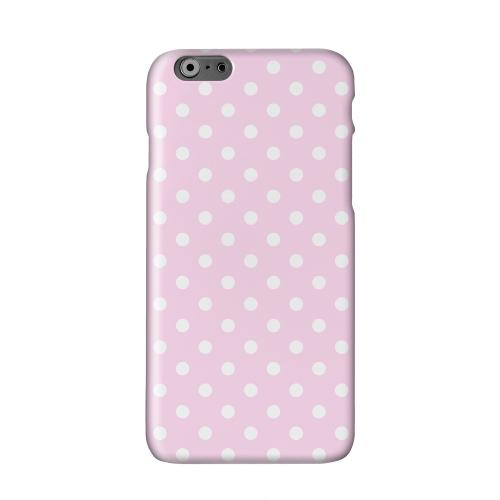 White Dots on Baby Pink Solid White Hard Case Cover for Apple iPhone 6 PLUS/6S PLUS (5.5 inch)