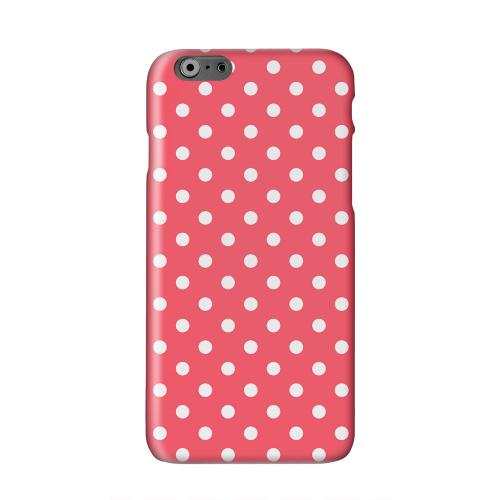 White Dots on Red Solid White Hard Case Cover for Apple iPhone 6 PLUS/6S PLUS (5.5 inch)