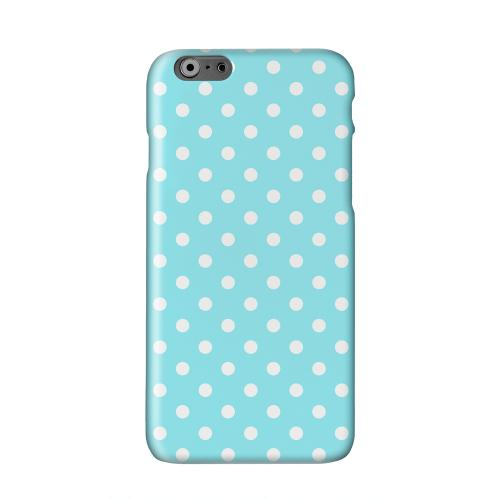 White Dots on Turquoise Solid White Hard Case Cover for Apple iPhone 6 PLUS/6S PLUS (5.5 inch)