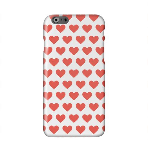 Red Hearts on White Solid White Hard Case Cover for Apple iPhone 6 PLUS/6S PLUS (5.5 inch)