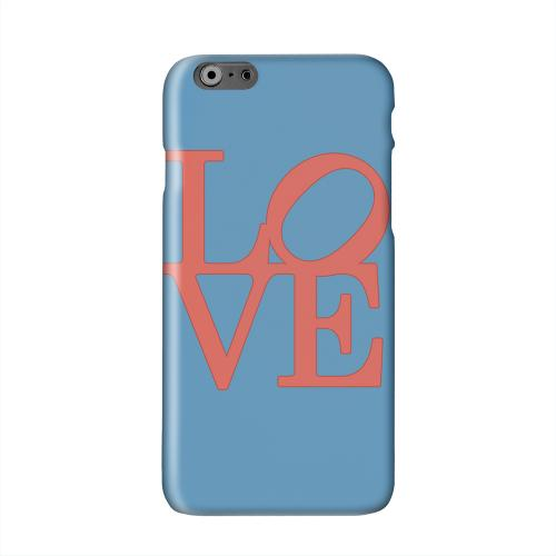 Red Love on Blue Solid White Hard Case Cover for Apple iPhone 6 PLUS/6S PLUS (5.5 inch)