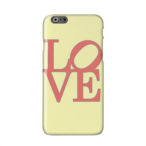 Red Love on Yellow Solid White Hard Case Cover for Apple iPhone 6 PLUS/6S PLUS (5.5 inch)