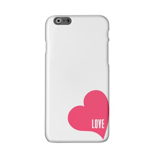 Love Heart Solid White Hard Case Cover for Apple iPhone 6 PLUS/6S PLUS (5.5 inch)