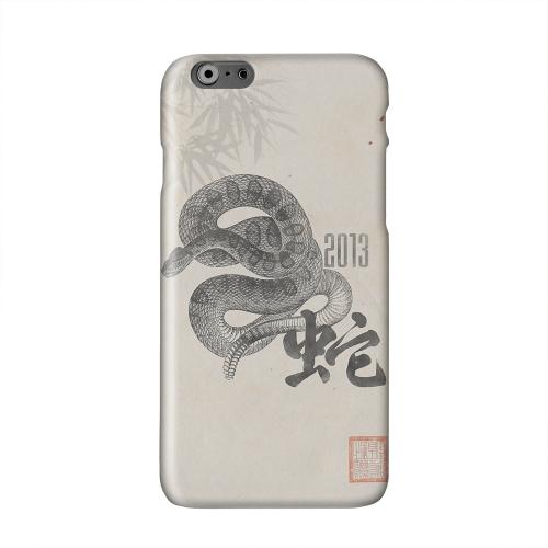 Snake on Parchment Solid White Hard Case Cover for Apple iPhone 6 PLUS/6S PLUS (5.5 inch)