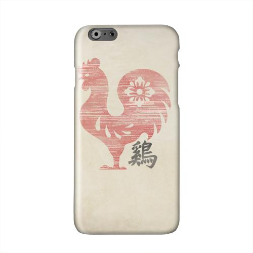 Grunge Rooster Solid White Hard Case Cover for Apple iPhone 6 PLUS/6S PLUS (5.5 inch)