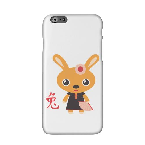 Rabbit on White Solid White Hard Case Cover for Apple iPhone 6 PLUS/6S PLUS (5.5 inch)