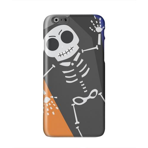 Dancing Skeleton on Black/Orange/Purple Solid White Hard Case Cover for Apple iPhone 6 Plus