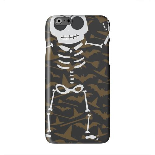 Dancing Skeleton on Witch Hat/Broom/Bat Solid White Hard Case Cover for Apple iPhone 6 PLUS/6S PLUS (5.5 inch)