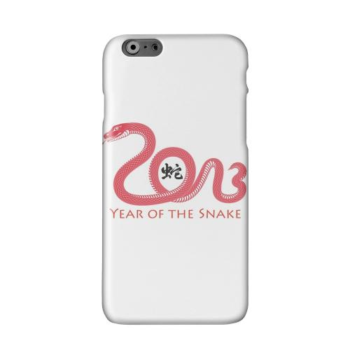 Red Year of the Snake Solid White Hard Case Cover for Apple iPhone 6 PLUS/6S PLUS (5.5 inch)