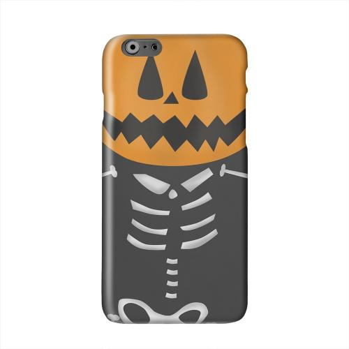 Skelton w/Jack O' Lantern Head Solid White Hard Case Cover for Apple iPhone 6 PLUS/6S PLUS (5.5 inch)