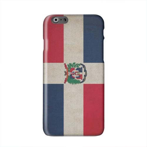 Grunge Dominican Republic Solid White Hard Case Cover for Apple iPhone 6 PLUS/6S PLUS (5.5 inch)