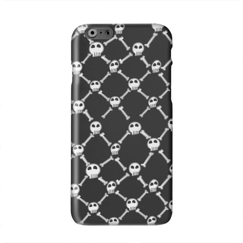 White Skull & Crossbones on Black Solid White Hard Case Cover for Apple iPhone 6 PLUS/6S PLUS (5.5 inch)