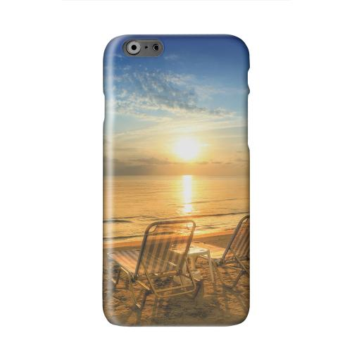 Beach Chair Sunrise Solid White Hard Case Cover for Apple iPhone 6 PLUS/6S PLUS (5.5 inch)