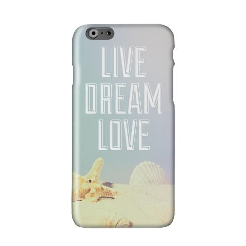 Live Dream Love Solid White Hard Case Cover for Apple iPhone 6 PLUS/6S PLUS (5.5 inch)