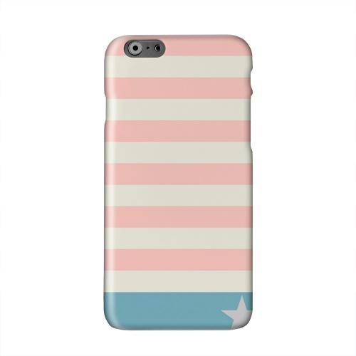 Bars & Stripes Forever on Pink/ Teal Solid White Hard Case Cover for Apple iPhone 6 PLUS/6S PLUS (5.5 inch)
