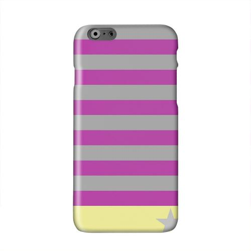 Bars & Stripes Forever on Purple/ Yellow Solid White Hard Case Cover for Apple iPhone 6 PLUS/6S PLUS (5.5 inch)