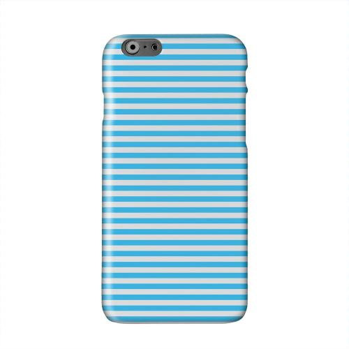 Blue/ White Stripes Solid White Hard Case Cover for Apple iPhone 6 PLUS/6S PLUS (5.5 inch)