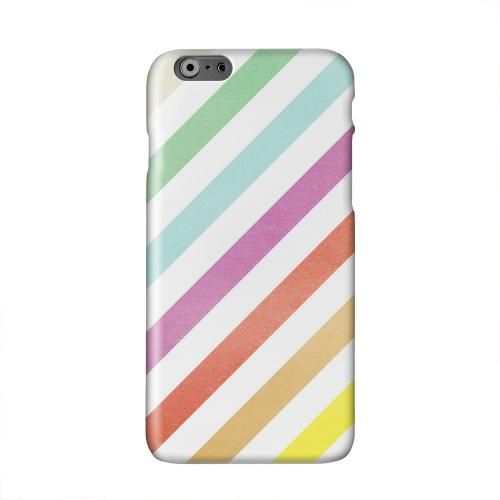 Dirty Diagonal Multi-Color Solid White Hard Case Cover for Apple iPhone 6 PLUS/6S PLUS (5.5 inch)
