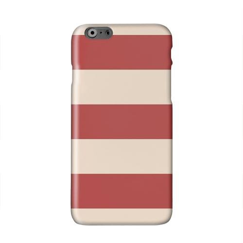 Linen Poppy Red Solid White Hard Case Cover for Apple iPhone 6 PLUS/6S PLUS (5.5 inch)