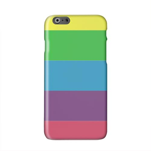Rainbow Candy Stripes Solid White Hard Case Cover for Apple iPhone 6 PLUS/6S PLUS (5.5 inch)