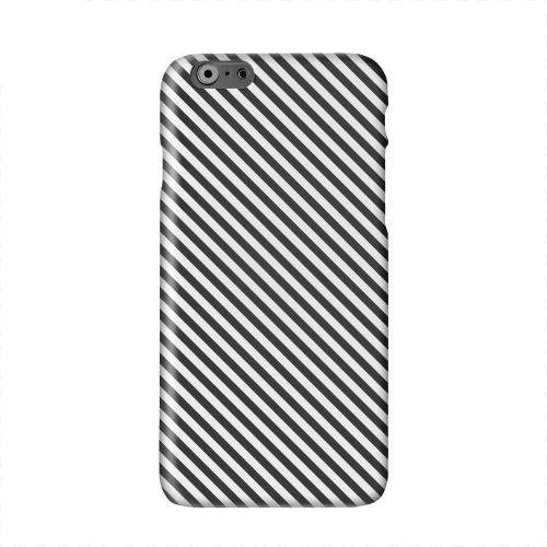 Thin Black/ White Diagonal Solid White Hard Case Cover for Apple iPhone 6 PLUS/6S PLUS (5.5 inch)