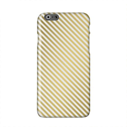 Thin Golden Diagonal Solid White Hard Case Cover for Apple iPhone 6 PLUS/6S PLUS (5.5 inch)