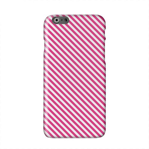 Thin Hot Pink Diagonal Solid White Hard Case Cover for Apple iPhone 6 PLUS/6S PLUS (5.5 inch)